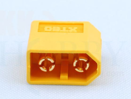 HX HP 17  XT60 gold plug female 2 stuks